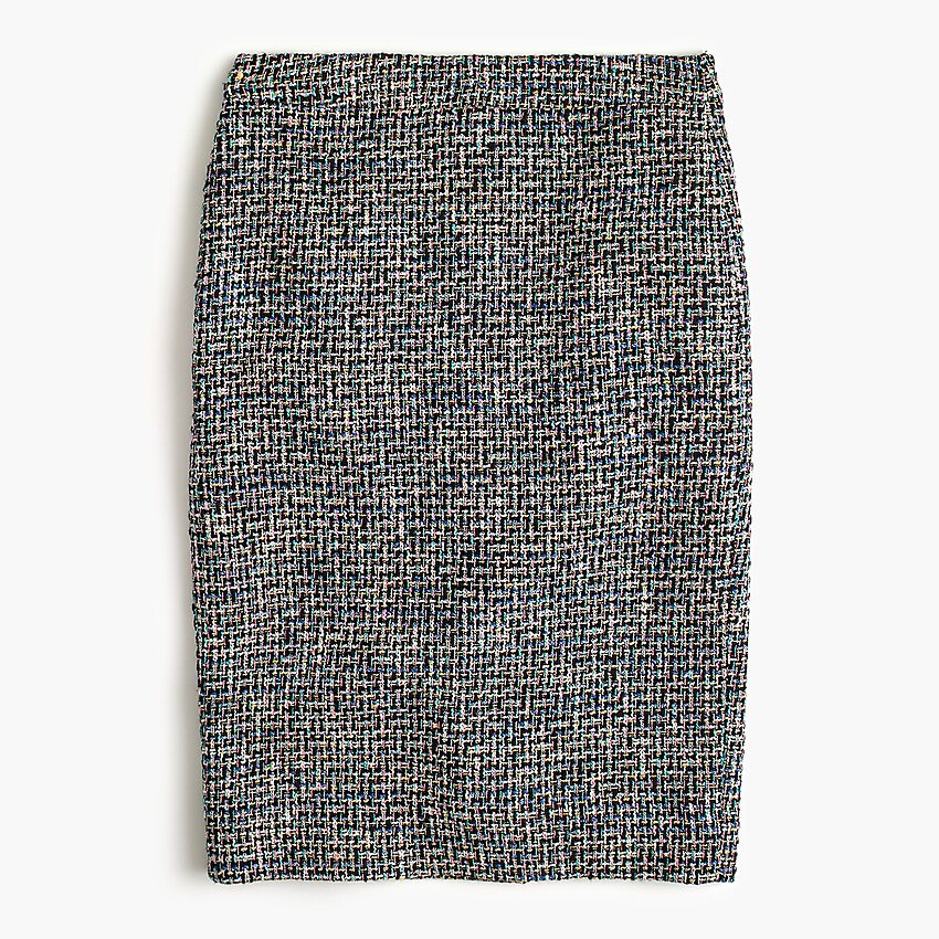 J.Crew: No. 2 Pencil® Skirt In Black Metallic Tweed