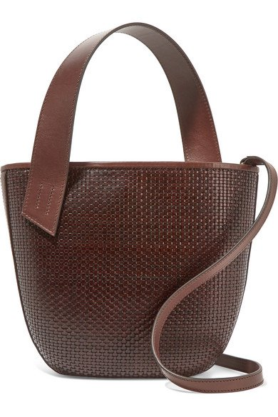 TL-180 | Panier Saigon woven leather shoulder bag | NET-A-PORTER.COM
