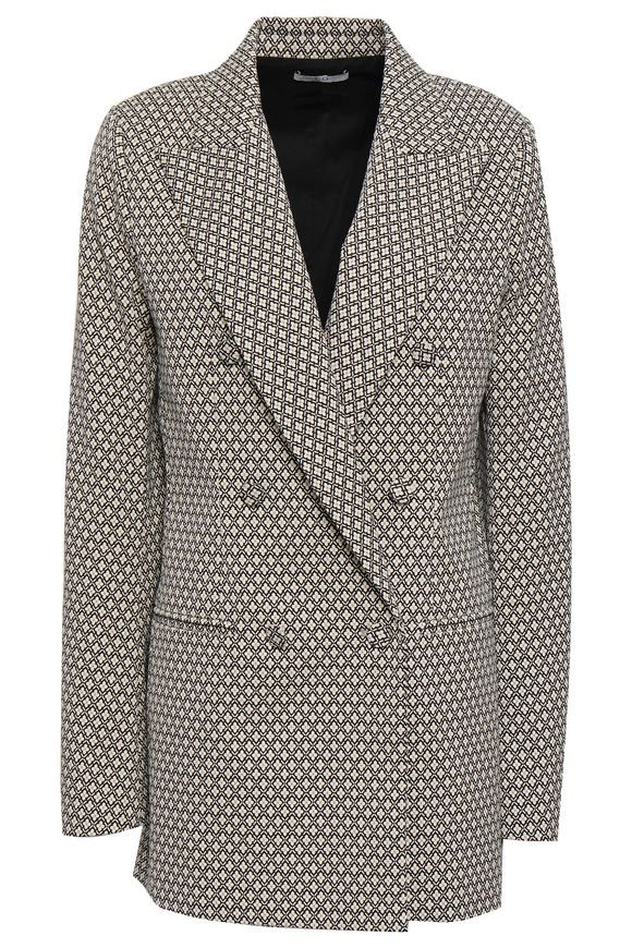 CO | double-breasted jacquard blazer