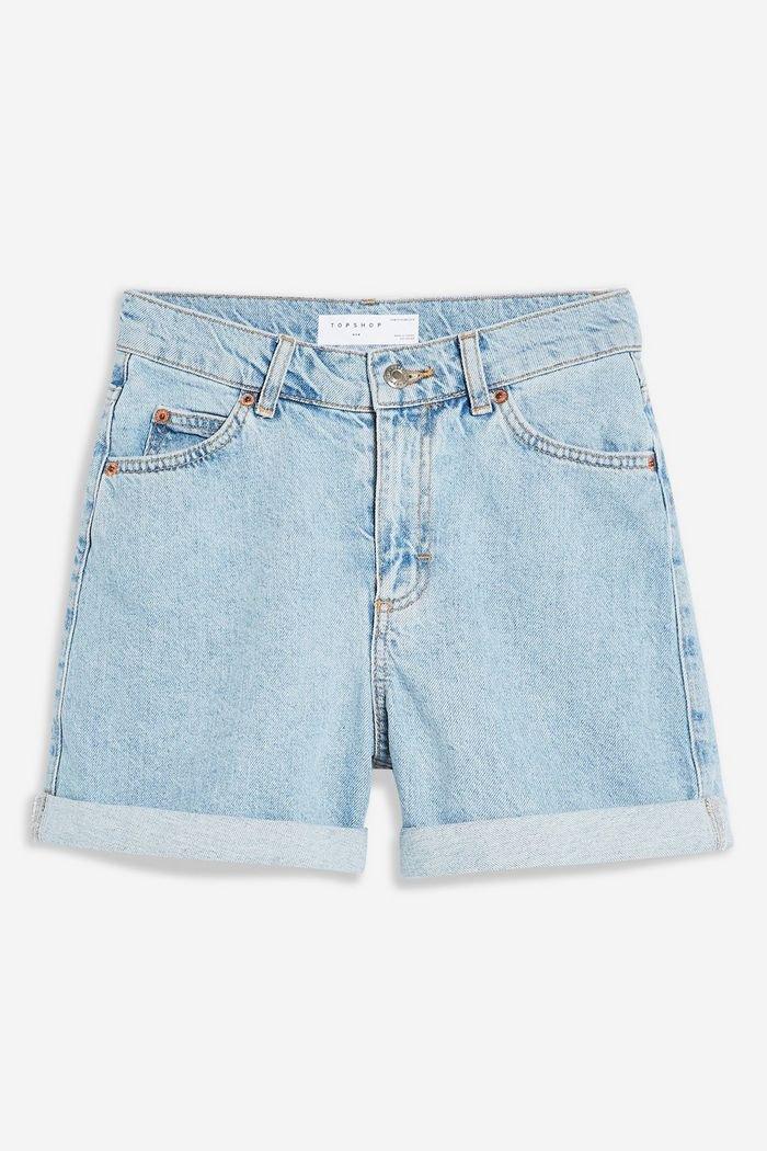 Roll Mom Denim Shorts   Topshop