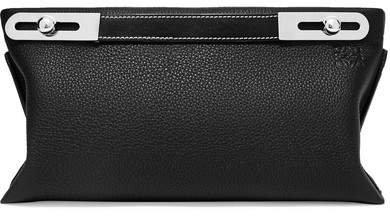 Missy Small Textured-leather Shoulder Bag - Black