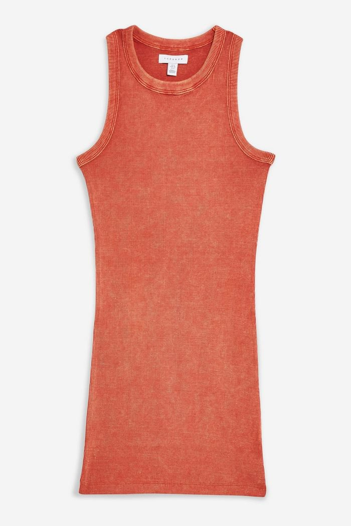 Washed Racer Bodycon Dress | Topshop