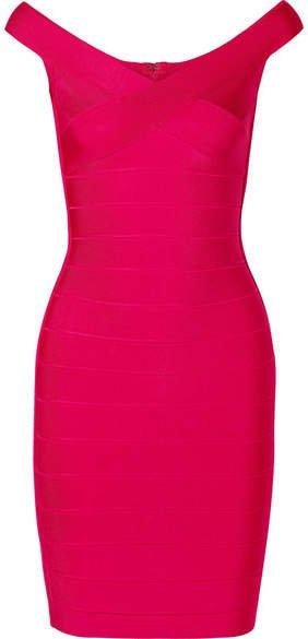 Bandage Mini Dress - Bright pink