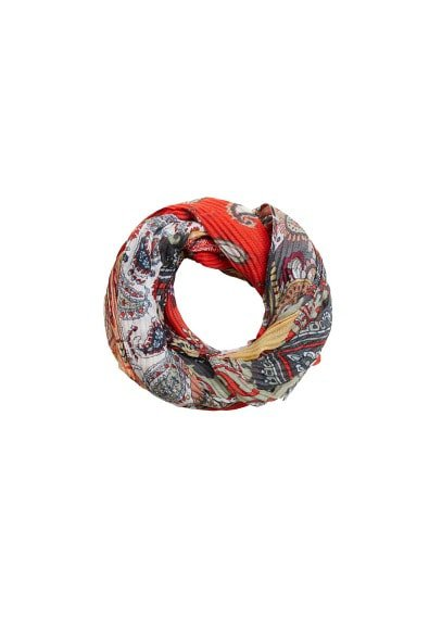 MANGO Patchwork printed scarf