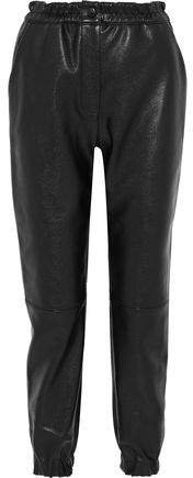 Faux Leather Tapered Pants