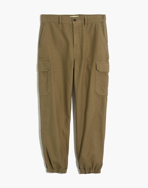 High-Rise Cargo Fatigue Pants green