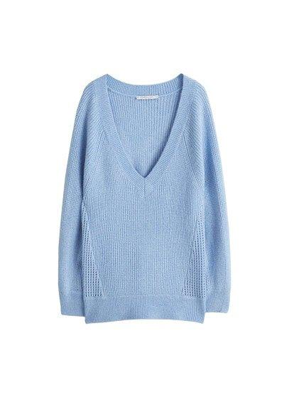 Violeta BY MANGO Open-knit sweater