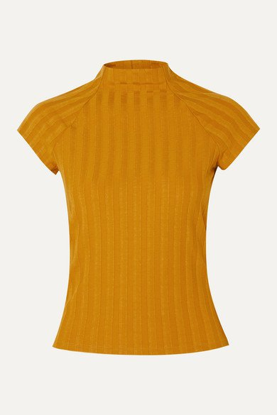 Reformation   Giselle ribbed stretch-Tencel top   NET-A-PORTER.COM