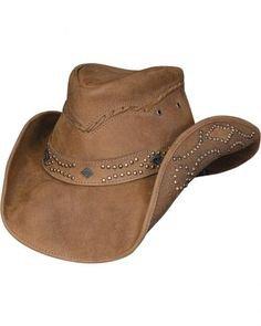 Montecarlo Bullhide Hats ROYSTON - Top Grain Leather Western Cowboy Hat