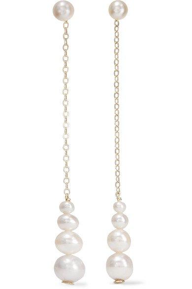 Saskia Diez | Gold pearl earrings | NET-A-PORTER.COM