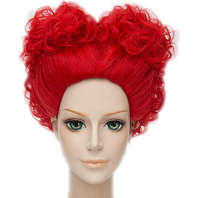 Amazon.com: MSHUI Alice's Adventures in Wonderland Red Queen Anime Cosplay Short Curly Hair: Gateway