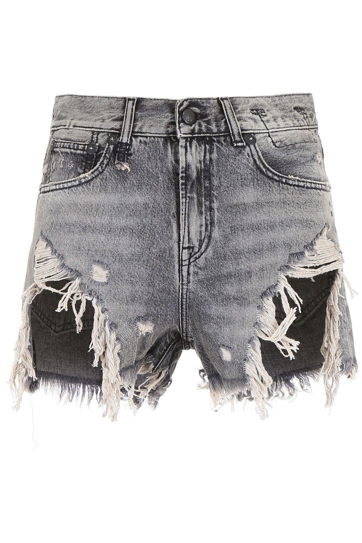 R13 Destroyed Shorts