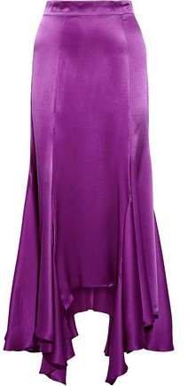 Vermont Silk-satin Midi Skirt