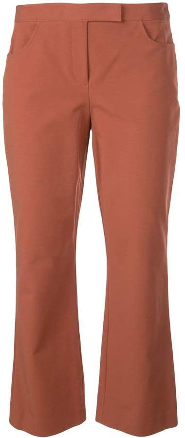 slim cropped trousers