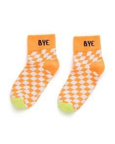 california ankle sock - orange