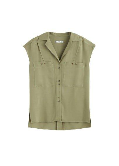MANGO Patch pocket blouse