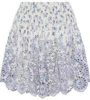 Emile Printed Broderie Anglaise Mini Skirt