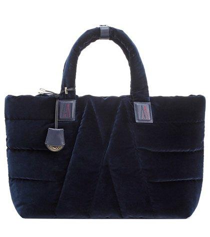 Powder velvet shoulder bag