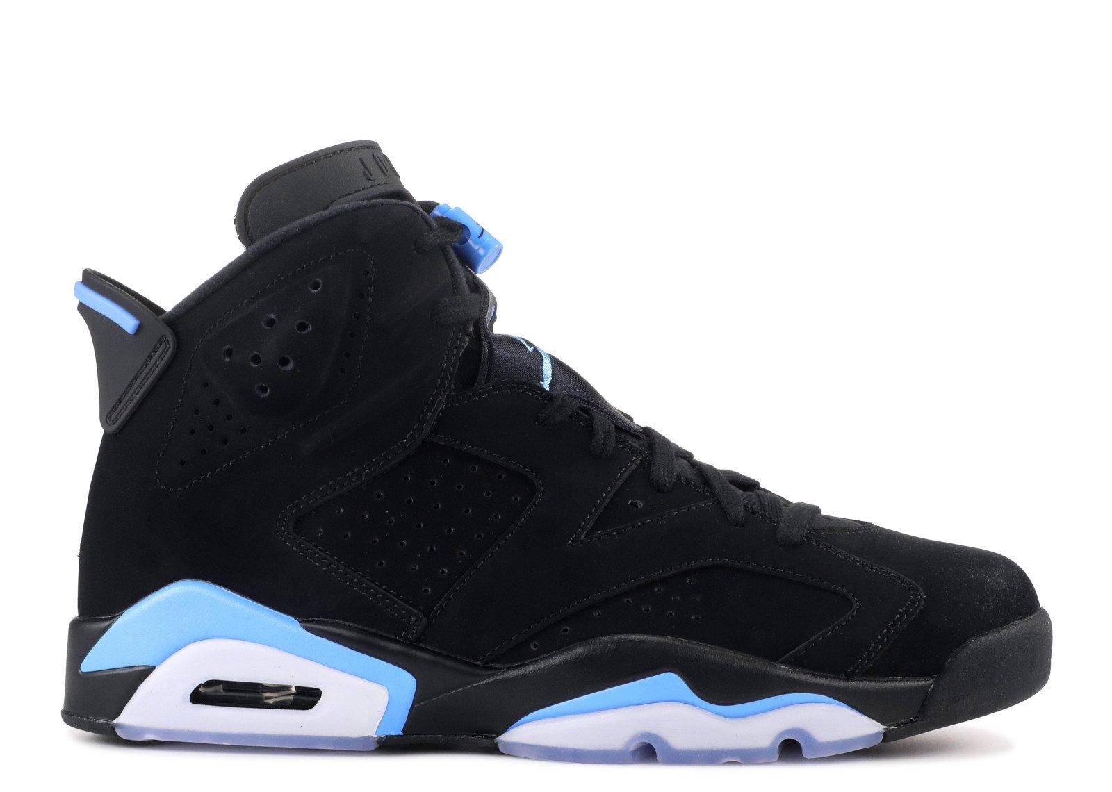 """Air Jordan 6 Retro """"UNC"""" - Air Jordan - 384664 006 - black/university blue   Flight Club"""