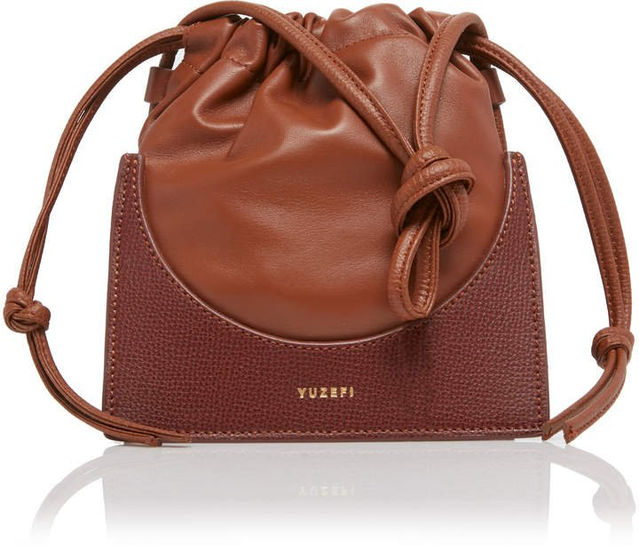 Pouchy Leather Bucket Bag