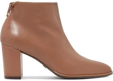 Gardiner Leather Ankle Boots - Brown