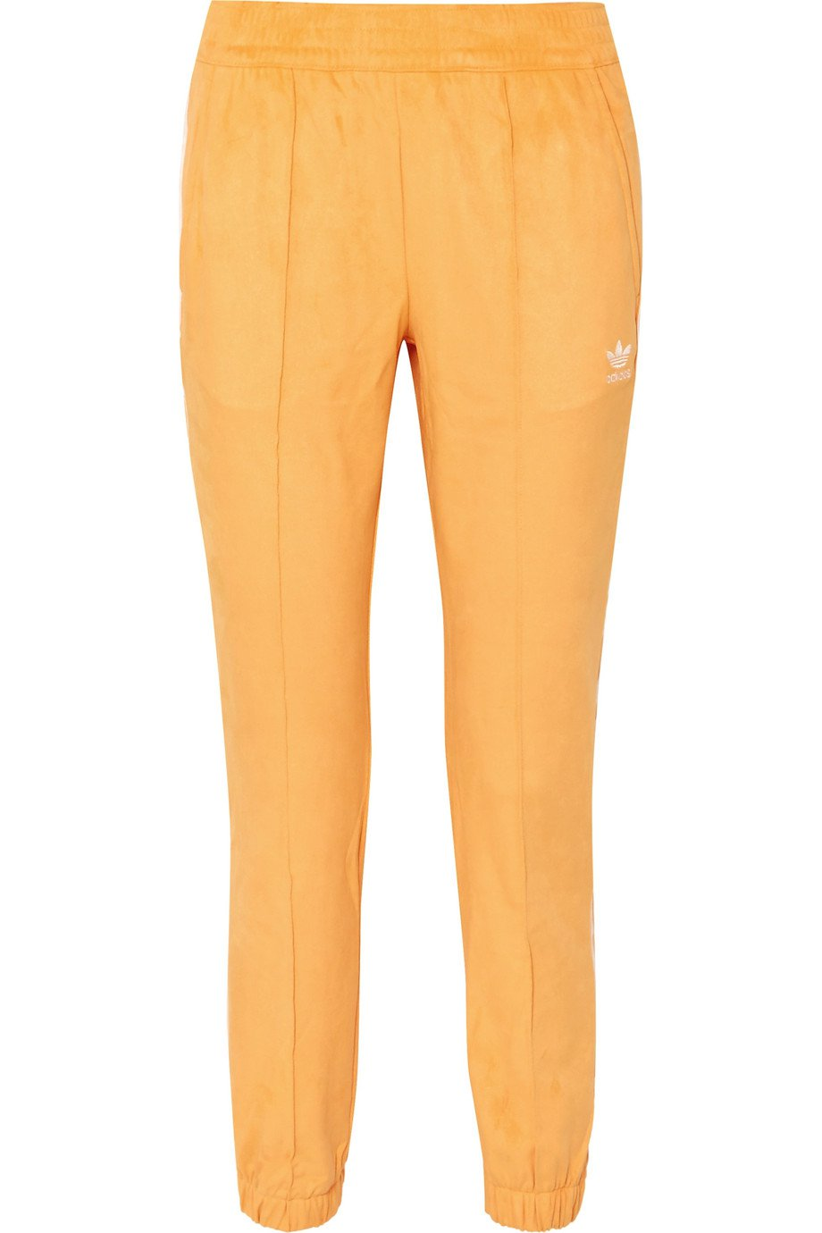 adidas Originals | Striped faux suede track pants | NET-A-PORTER.COM