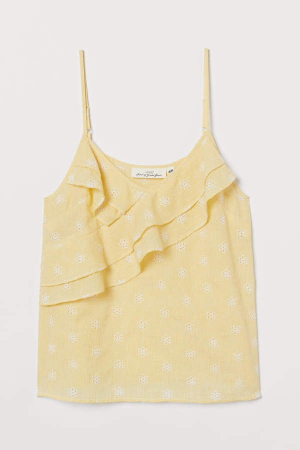 Camisole Top with Flounces - Yellow