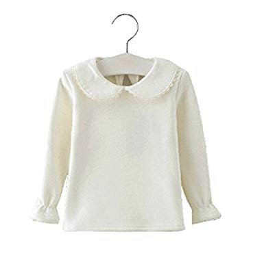 Amazon.com: Baby Girls Cotton Long Sleeve T Shirt Blouse Tops Bottom Tee 3-4Years White: Clothing