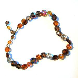 Autumn Jewel Tone Beveled Glass Bead Necklace circa 1960s – Dorothea's Closet Vintage