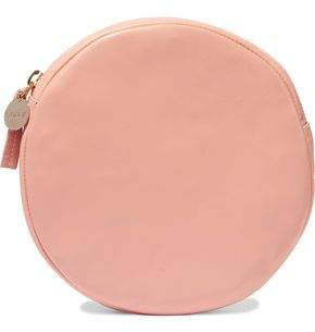 Circle Leather Clutch