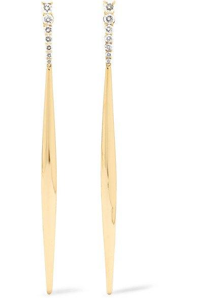 Melissa Kaye | Aria 18-karat gold diamond earrings | NET-A-PORTER.COM