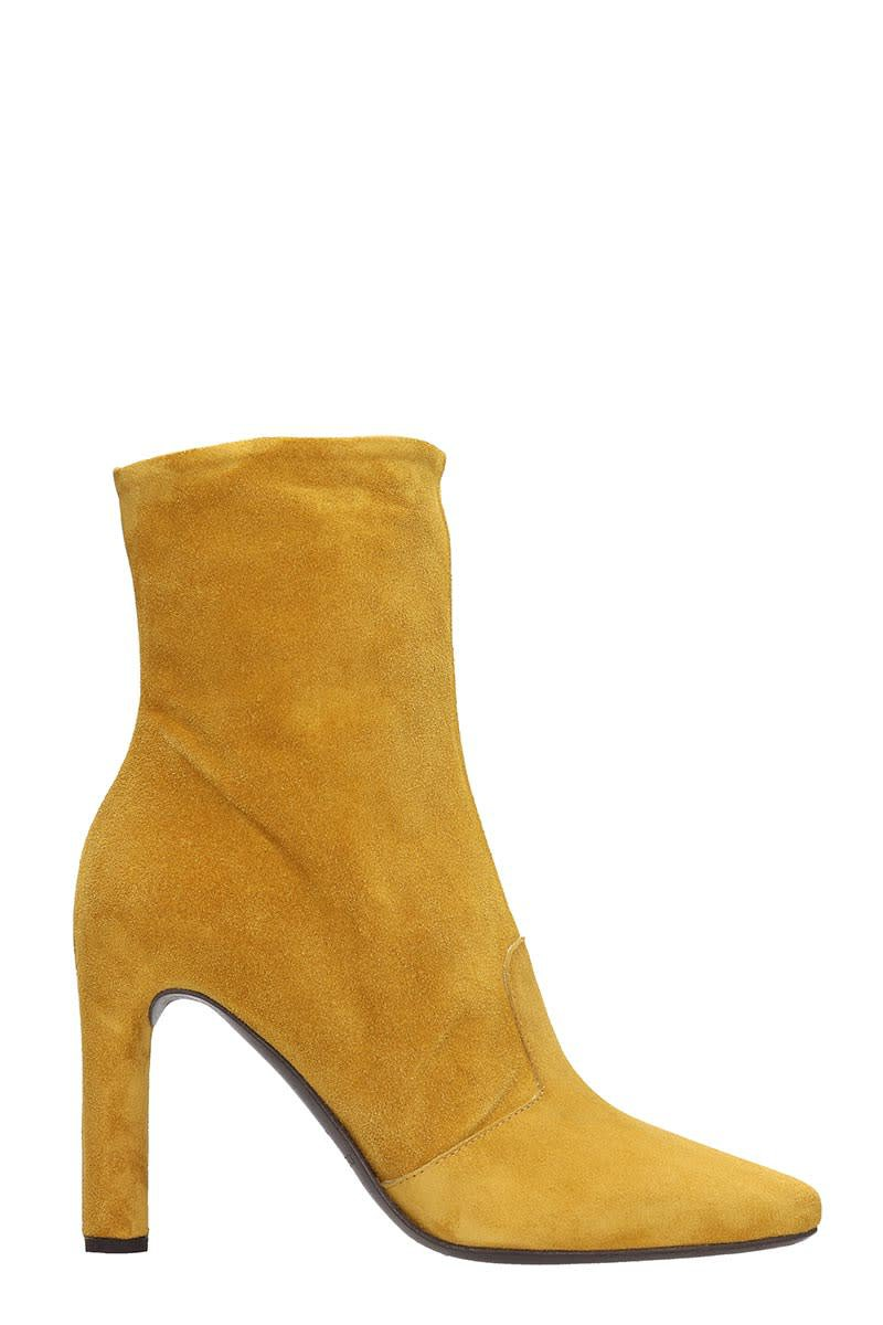 Roberto del Carlo Ankle Boots In Yellow Suede