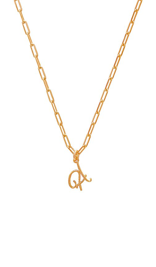 joolz by Martha Calvo A Initial Necklace in Gold | REVOLVE