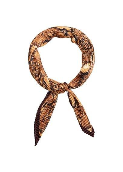 MANGO Snake print scarf