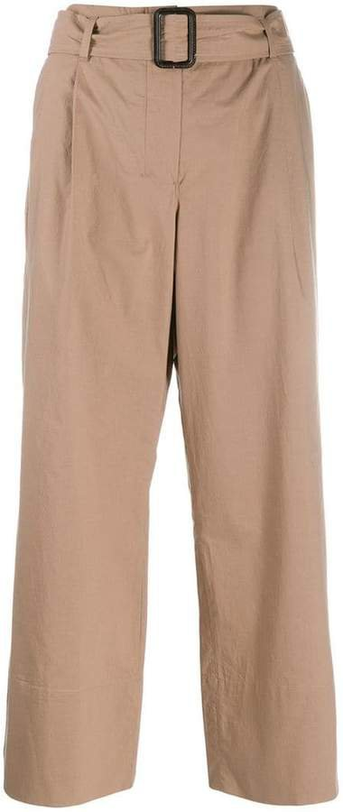 'S belted straight-leg trousers