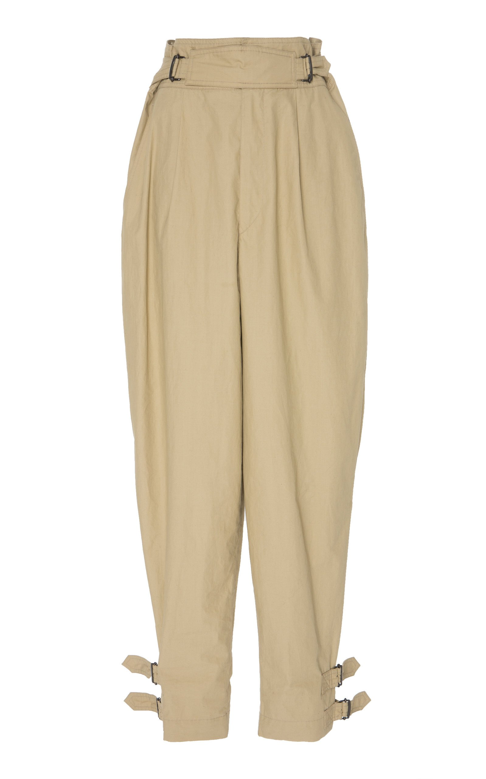 Isabel Marant Pierce High-Waisted Cotton Pants