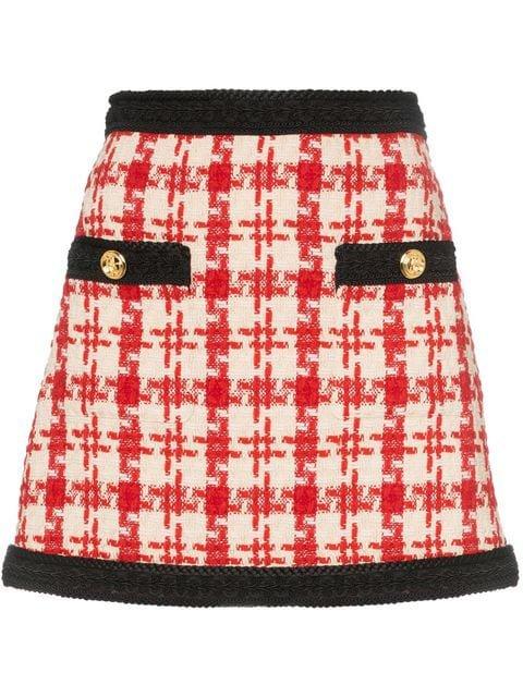 Gucci Tweed Mini Skirt - Farfetch
