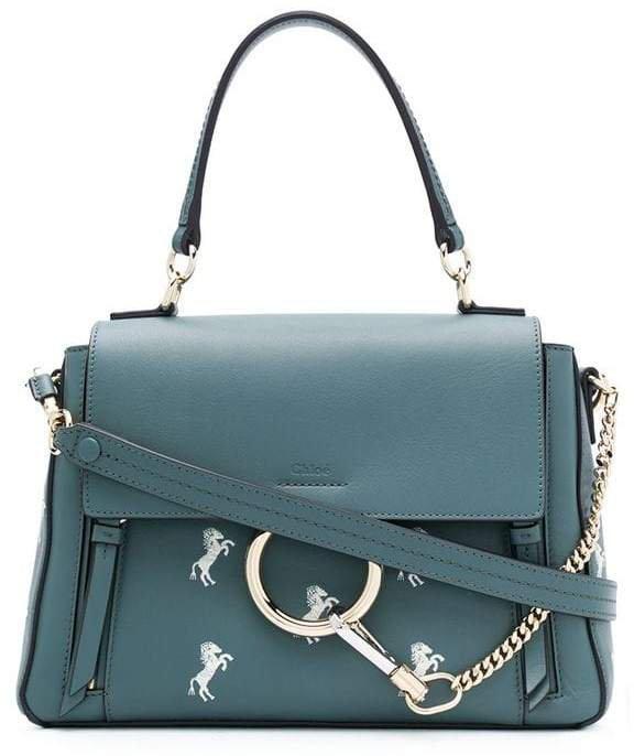 Faye horse embroidery shoulder bag