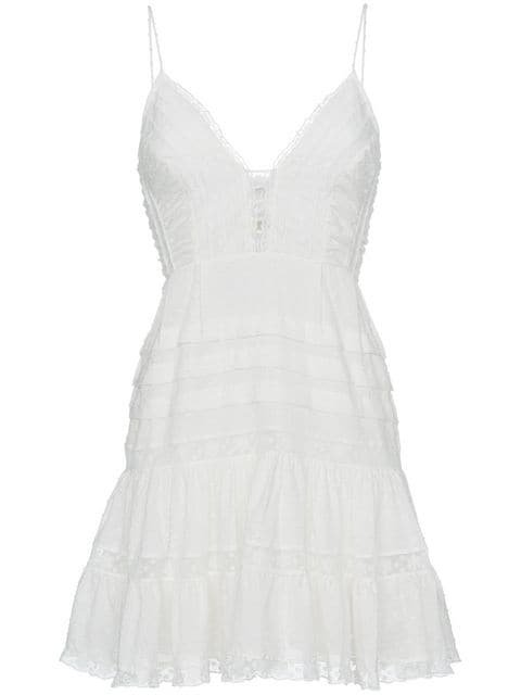 Zimmermann Iris embroidered cami cotton mini dress $630 - Shop AW18 Online - Fast Delivery, Price
