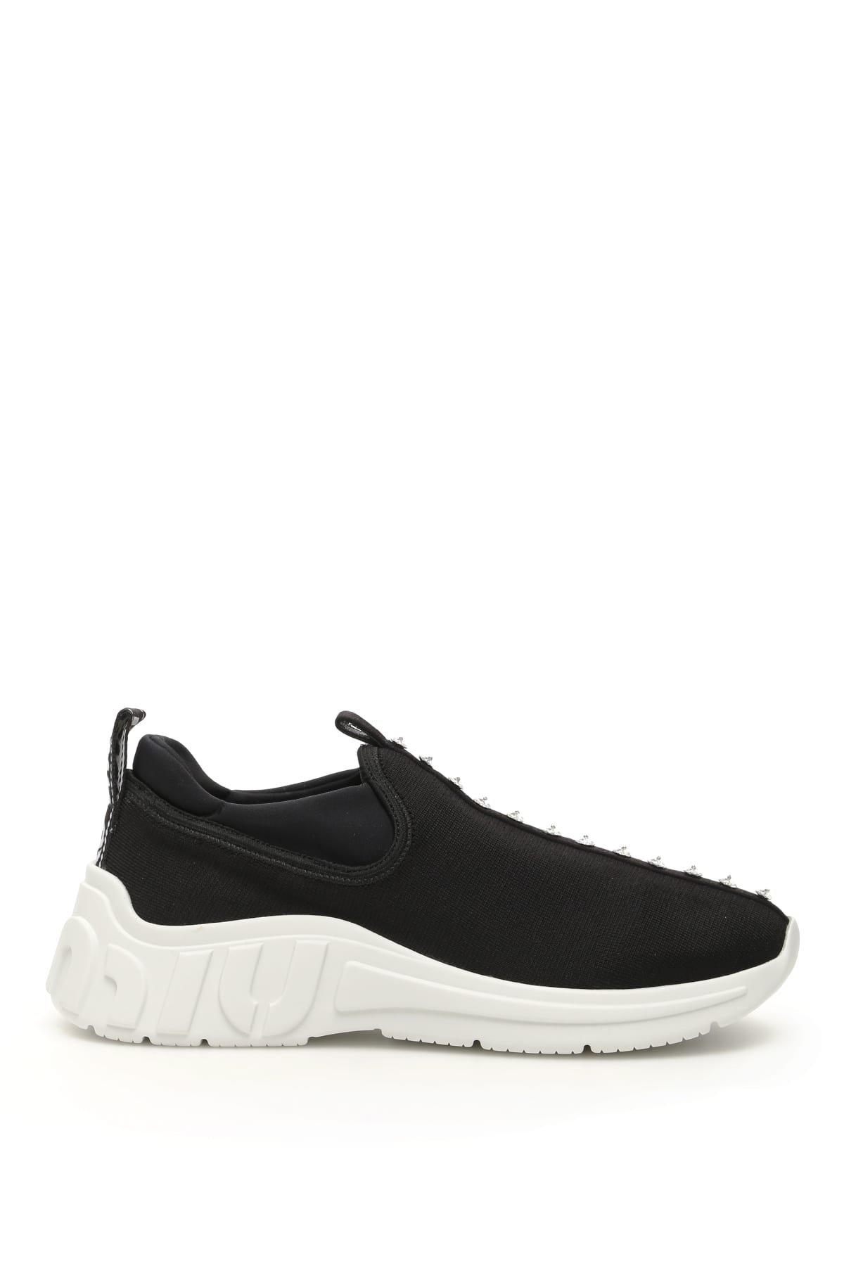 Miu Miu Crystal Miu Run Sneakers