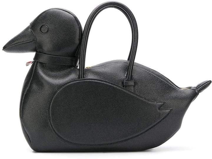 Pebbled Black Duck Icon Bag