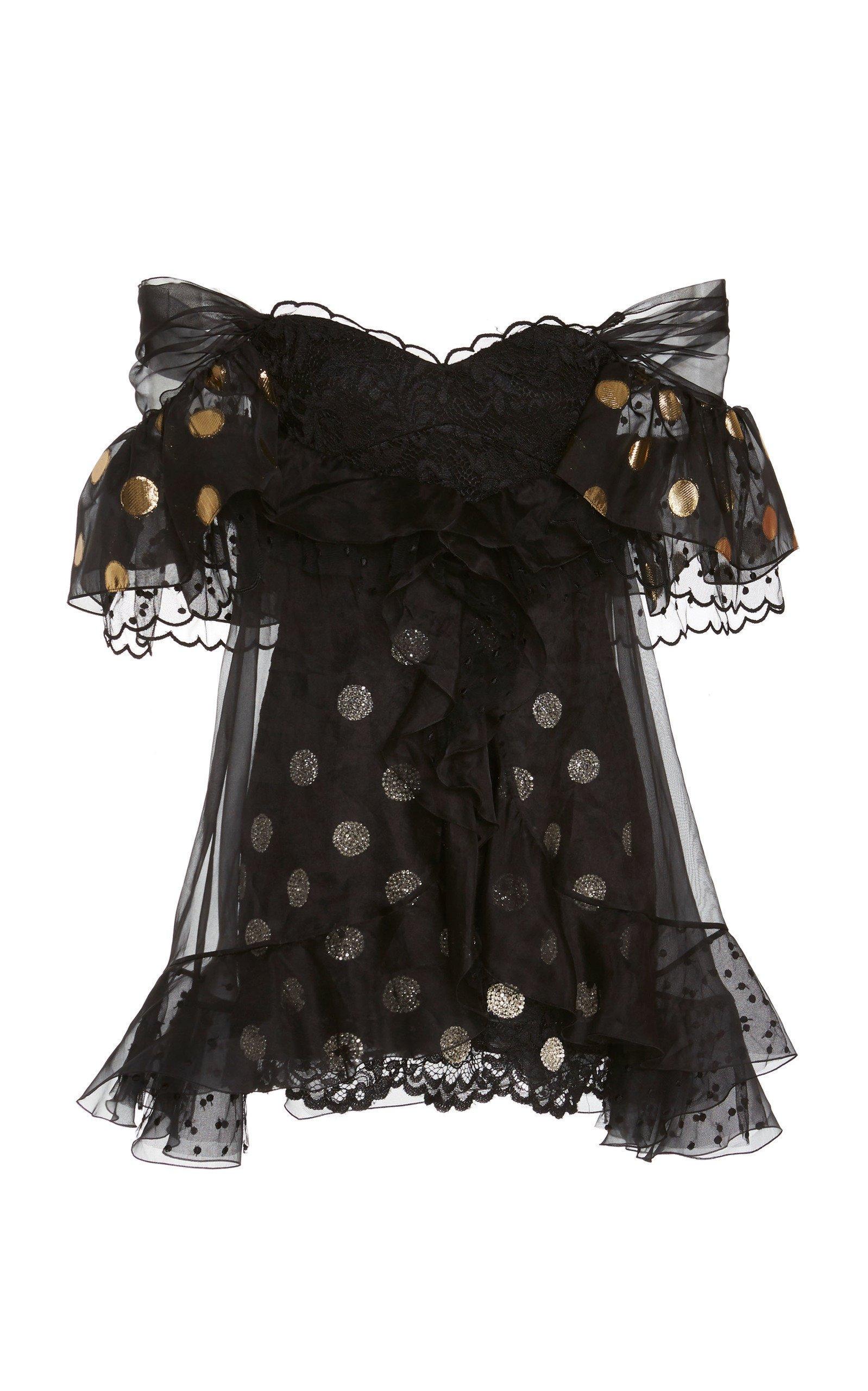 Dundas Polka Dot Lace Mini Dress