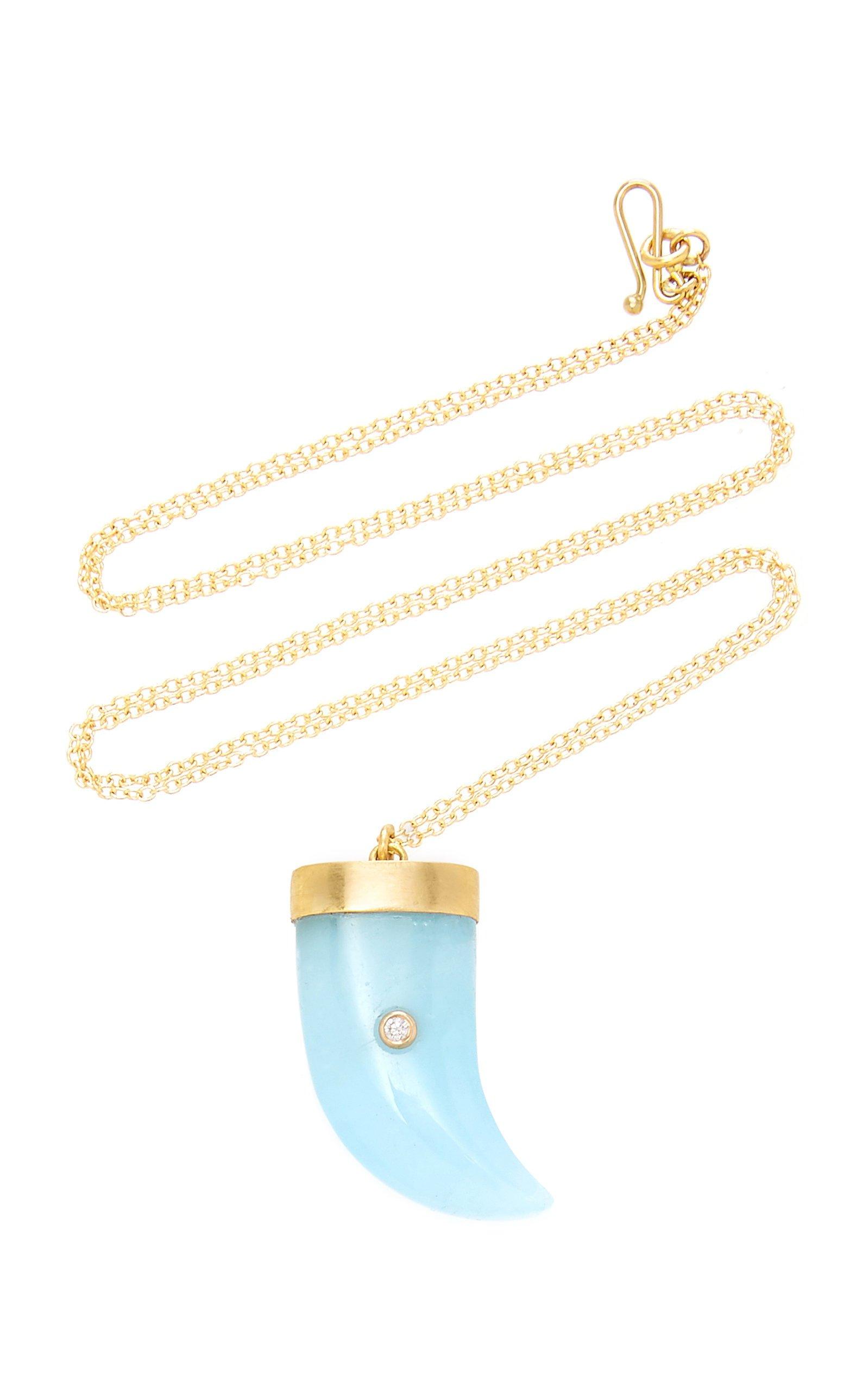 Annette Ferdinandsen Aquamarine Amazon Claw Pendant