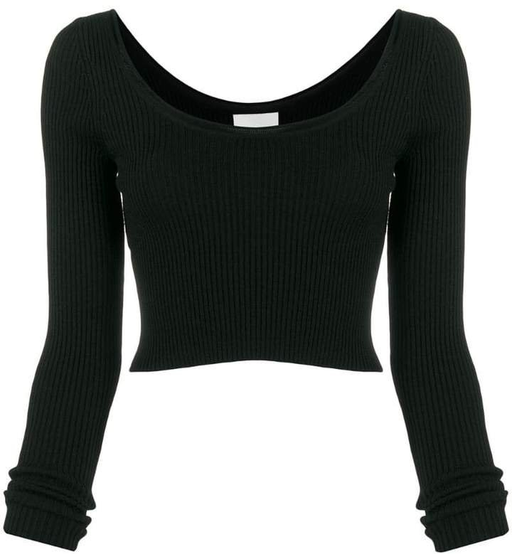 ribbed cropped top