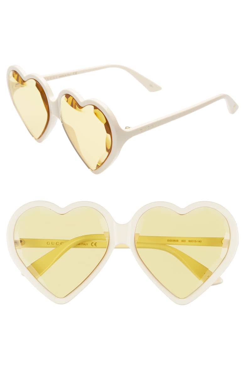 Gucci 60mm Heart Sunglasses | Nordstrom