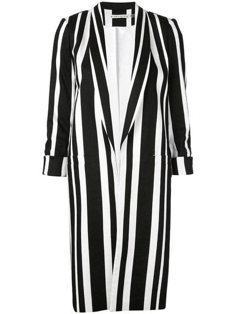 Alice+Olivia long blazer with stripes $485 - Buy Online SS19 - Quick Shipping, Price