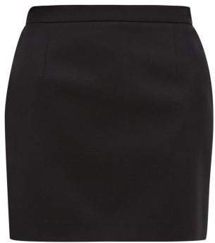 Wool Twill Mini Skirt - Womens - Black