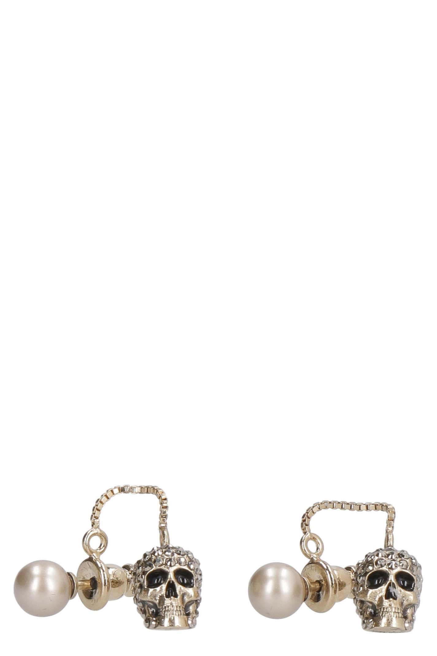 Alexander McQueen Earrings With Pearl And Skull