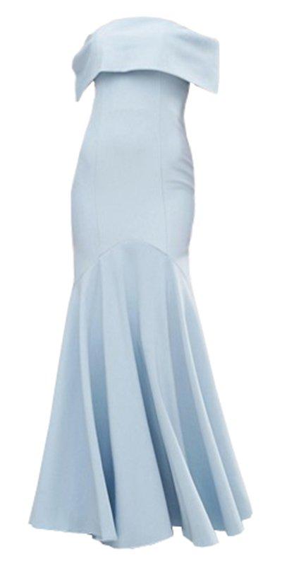 Dress Long Pale Blue