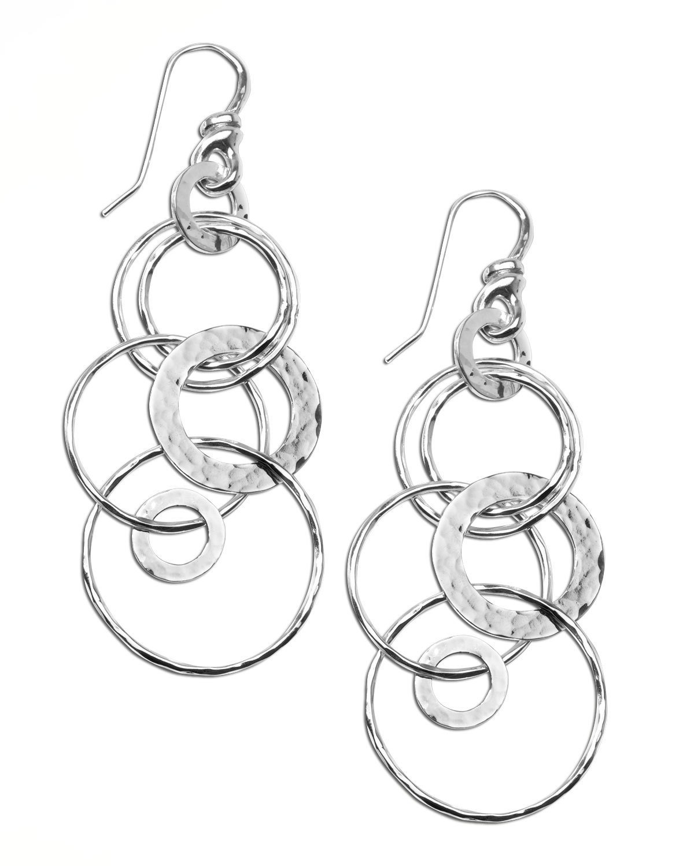 Ippolita Silver Multi-Link Jet-Set Earrings